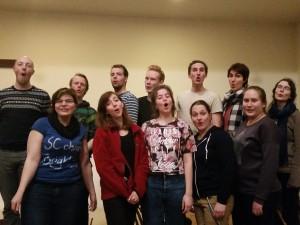 koorrepetitie van studentenkoor Arnhem